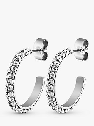6c9bd2691440 DYRBERG KERN Hosta Swarovski Crystal Hoop Earrings