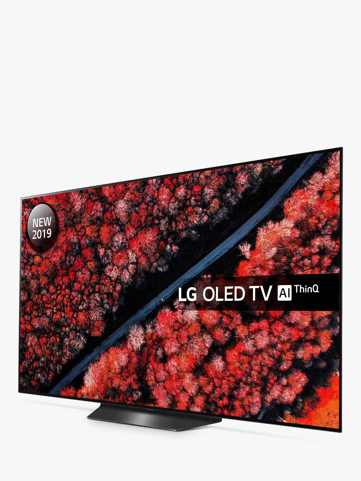 "Buy LG OLED55B9PLA (2019) OLED HDR 4K Ultra HD Smart TV, 55"" with Freeview Play/Freesat HD, Dolby Atmos & Streamlined Alpine Stand, Ultra HD Certified, Black Online at johnlewis.com"