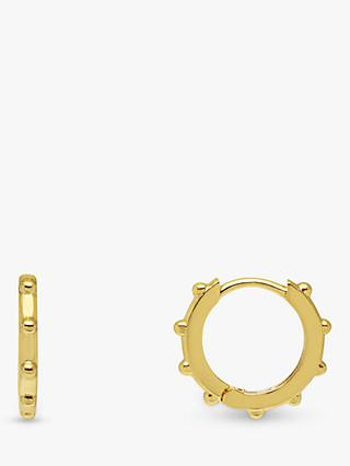 Estella Bartlett Granulated Huggy Hoop Earrings, Gold