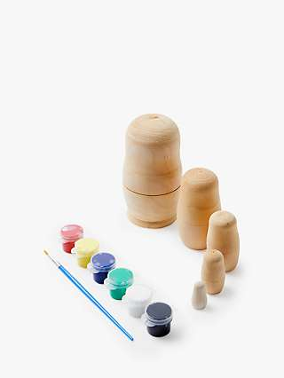 John Lewis & Partners Paint Your Own Russian Doll