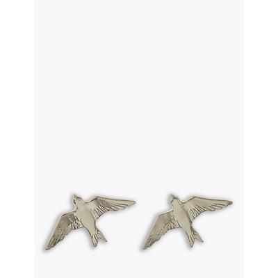 Alex Monroe Classic Swallow Stud Earrings, Silver