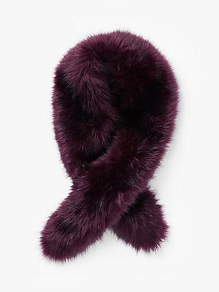 John Lewis & Partners Faux Fur Wrap