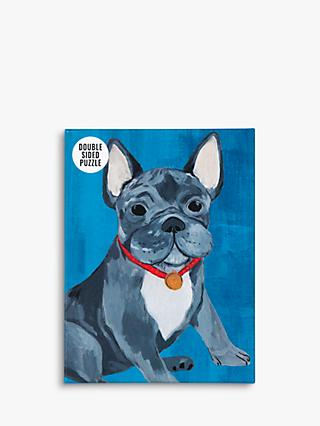 Talking Tables Double Side French Bulldog Jigsaw Puzzle, 100 Pieces