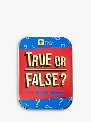 Talking Tables True or False Game