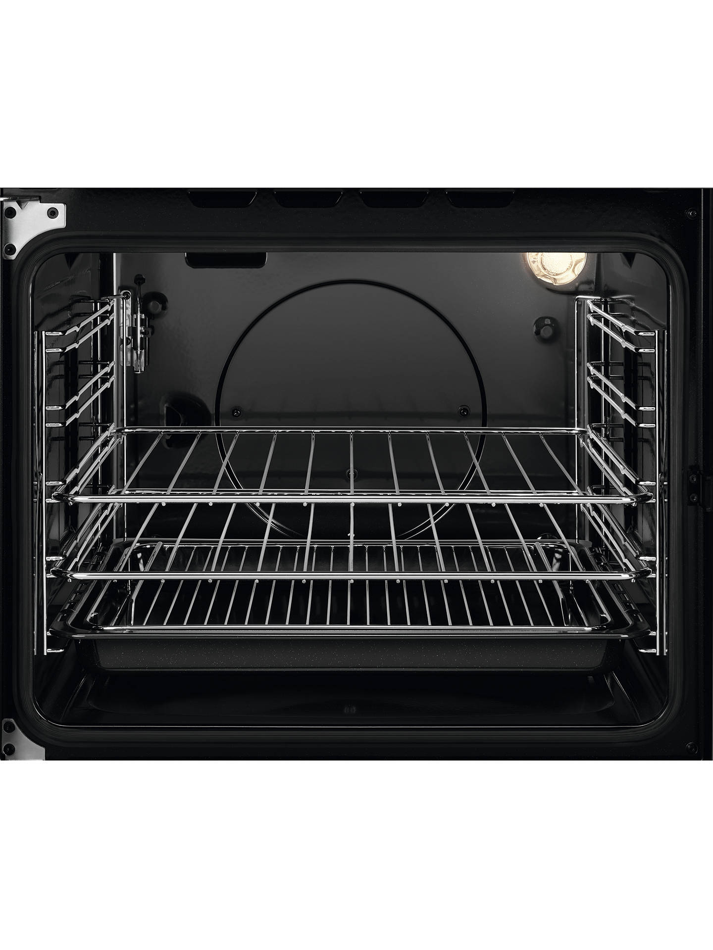 Buy Zanussi ZCG43050WA Freestanding Gas Cooker, 55cm Wide, Black/White Online at johnlewis.com