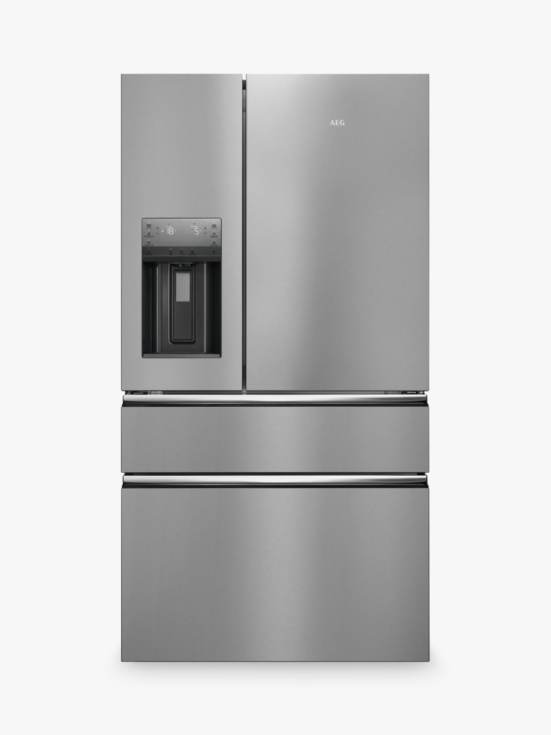 AEG AEG RMB96716CX American Style Fridge Freezer, A+ Energy Rating, 91.3cm Wide, Silver