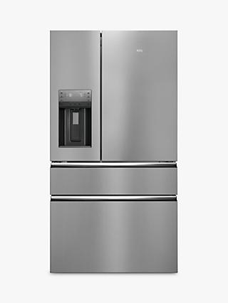 AEG RMB96719CX American fridge Freezer, A+ Energy Rating, 91.3cm Wide, Silver