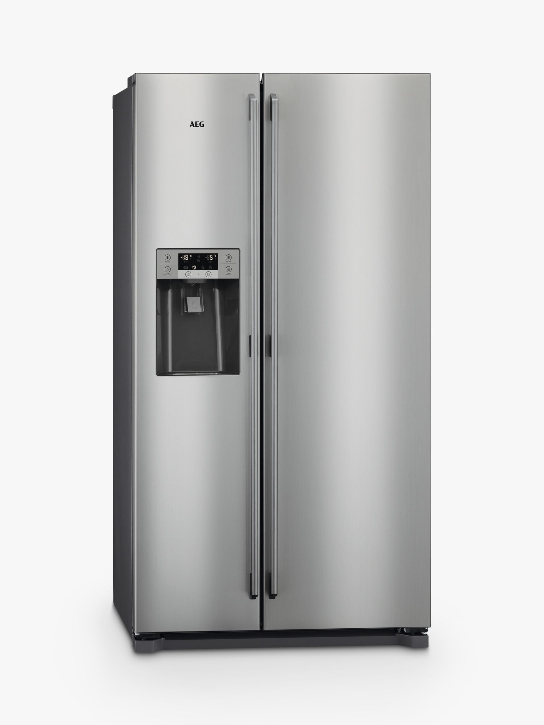 AEG AEG RMB76111NX American Style Fridge Freezer, A+ Energy Rating, 91.2cm Wide, Stainless Steel