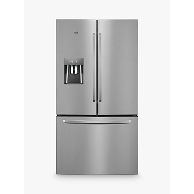 AEG RMB76311NX American Style Fridge Freezer, A+ Energy Rating, 91.2cm Wide, Stainless Steel