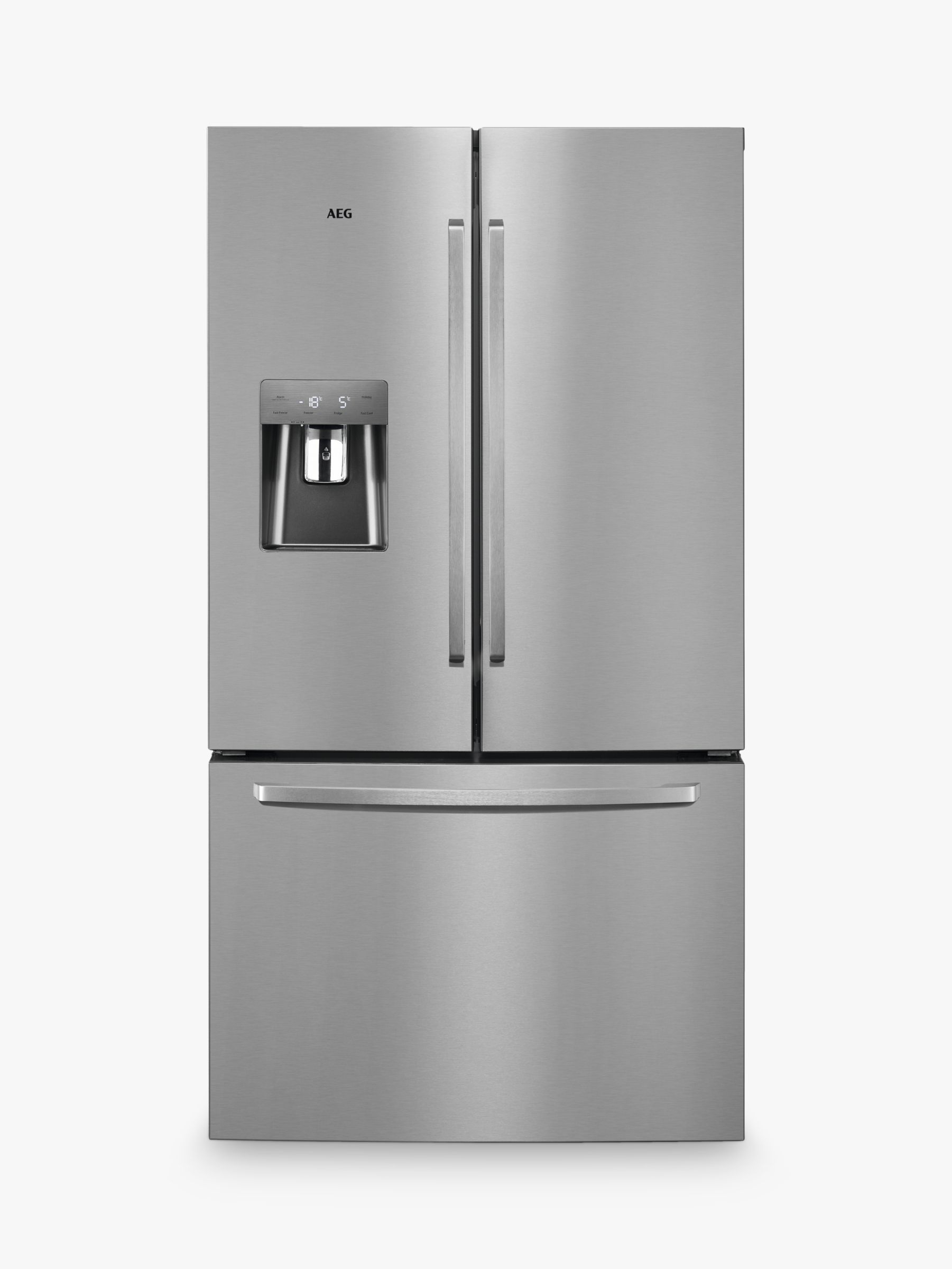 AEG AEG RMB76311NX American Style Fridge Freezer, A+ Energy Rating, 91.2cm Wide, Stainless Steel