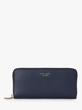 kate spade new york Sylvia Leather Slim Continental Purse, Blazer Blue
