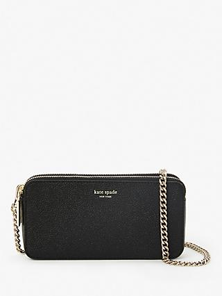 kate spade new york Margaux Leather Double Zip Mini Cross Body Bag