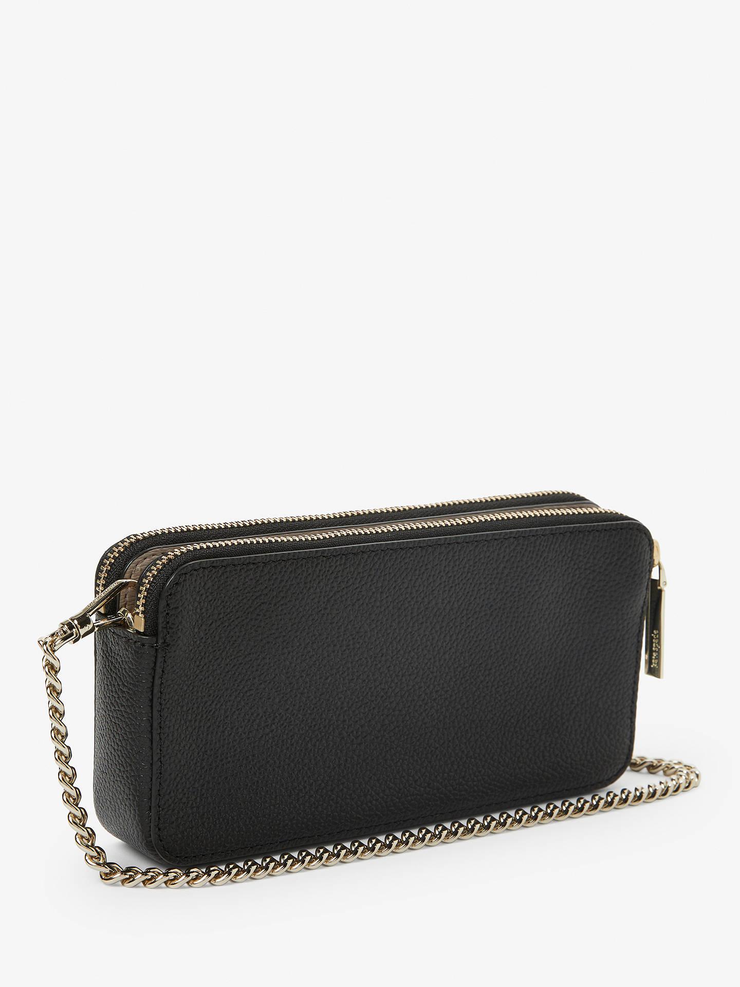 dd794c5f3 Buy kate spade new york Margaux Leather Double Zip Mini Cross Body Bag,  Black Online ...