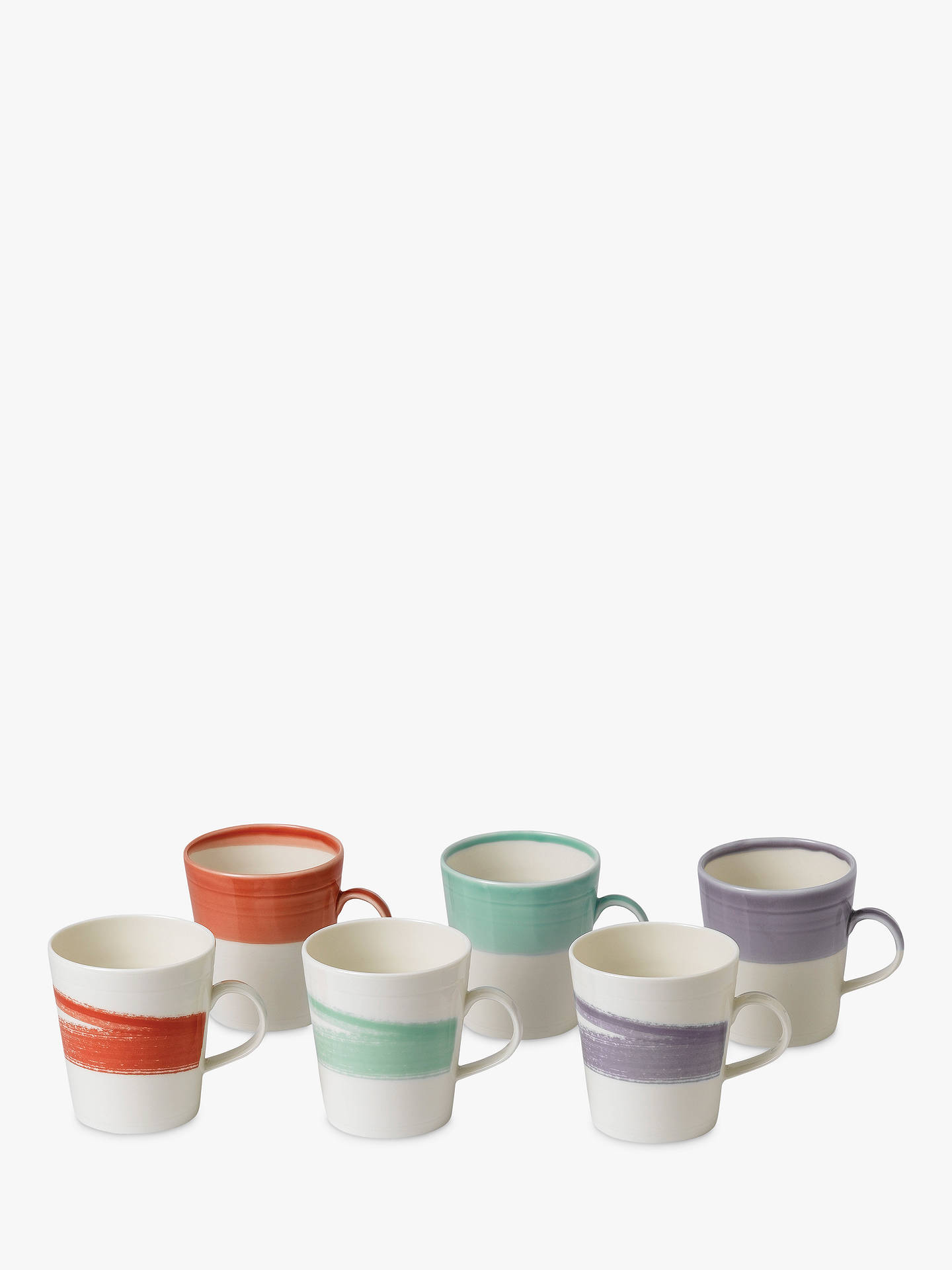 Royal Doulton 1815 Bold Large Mugs Set Of 6 500ml Assorted At John Lewis Partners