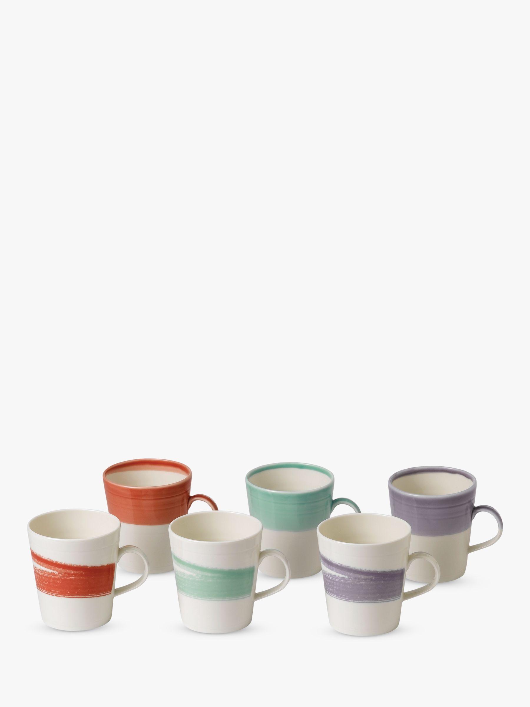 Royal Doulton Royal Doulton 1815 Bold Large Mugs, Set of 6, 500ml, Assorted