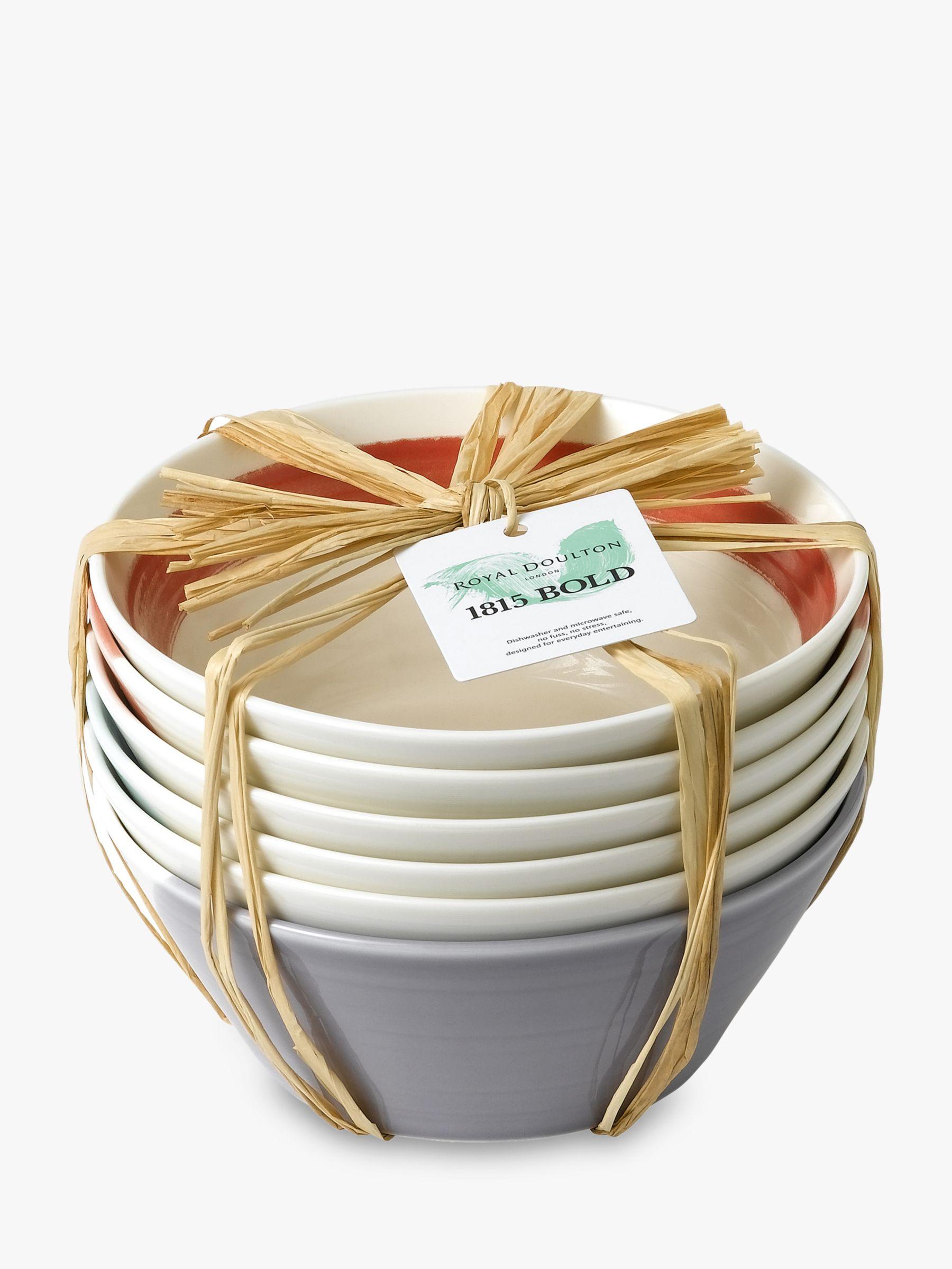 Royal Doulton Royal Doulton 1815 Bold Cereal Bowls, Set of 6, 16cm, Assorted