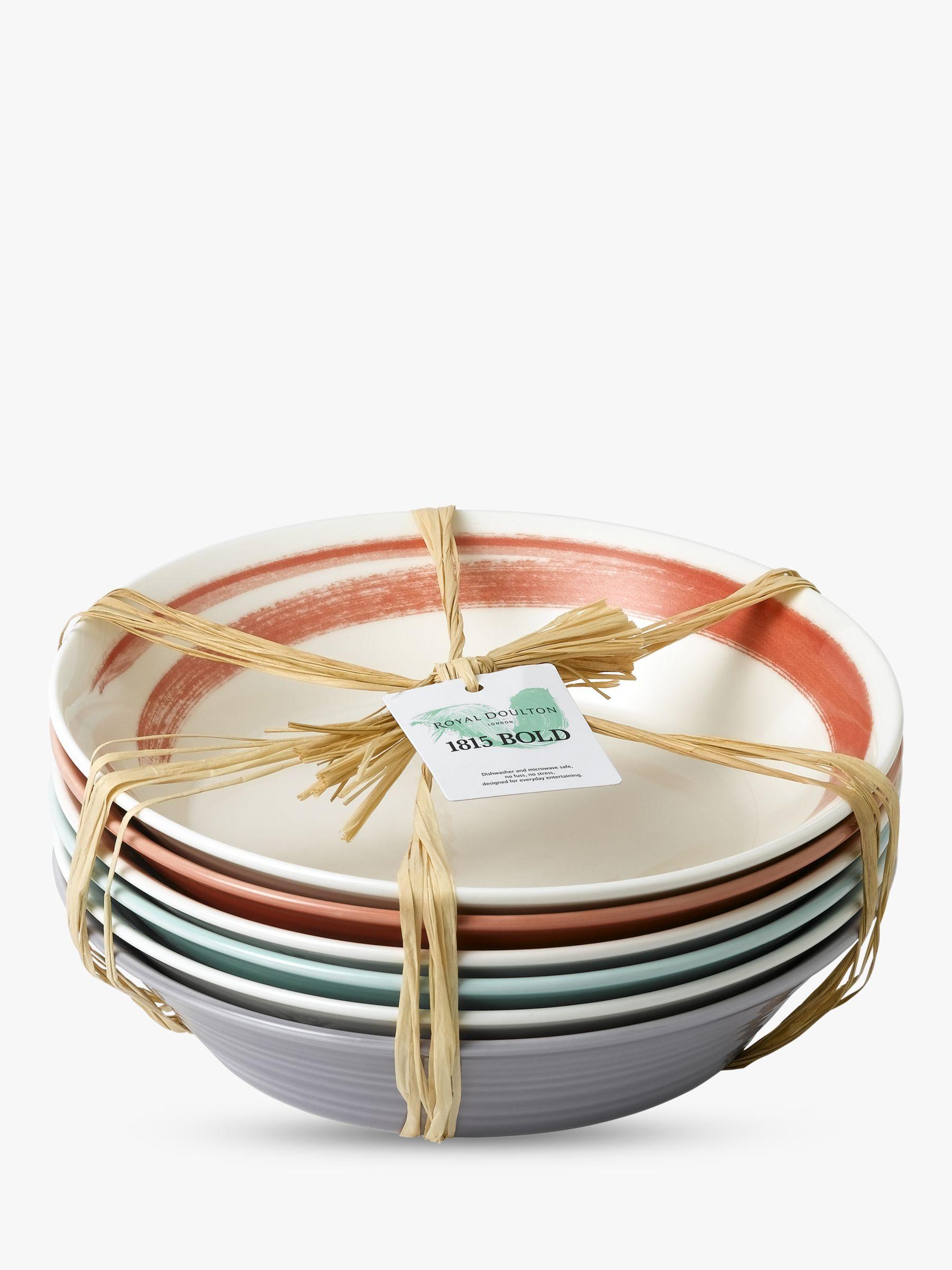 Royal Doulton Royal Doulton 1815 Bold Pasta Bowls, Set of 6, 23cm, Assorted