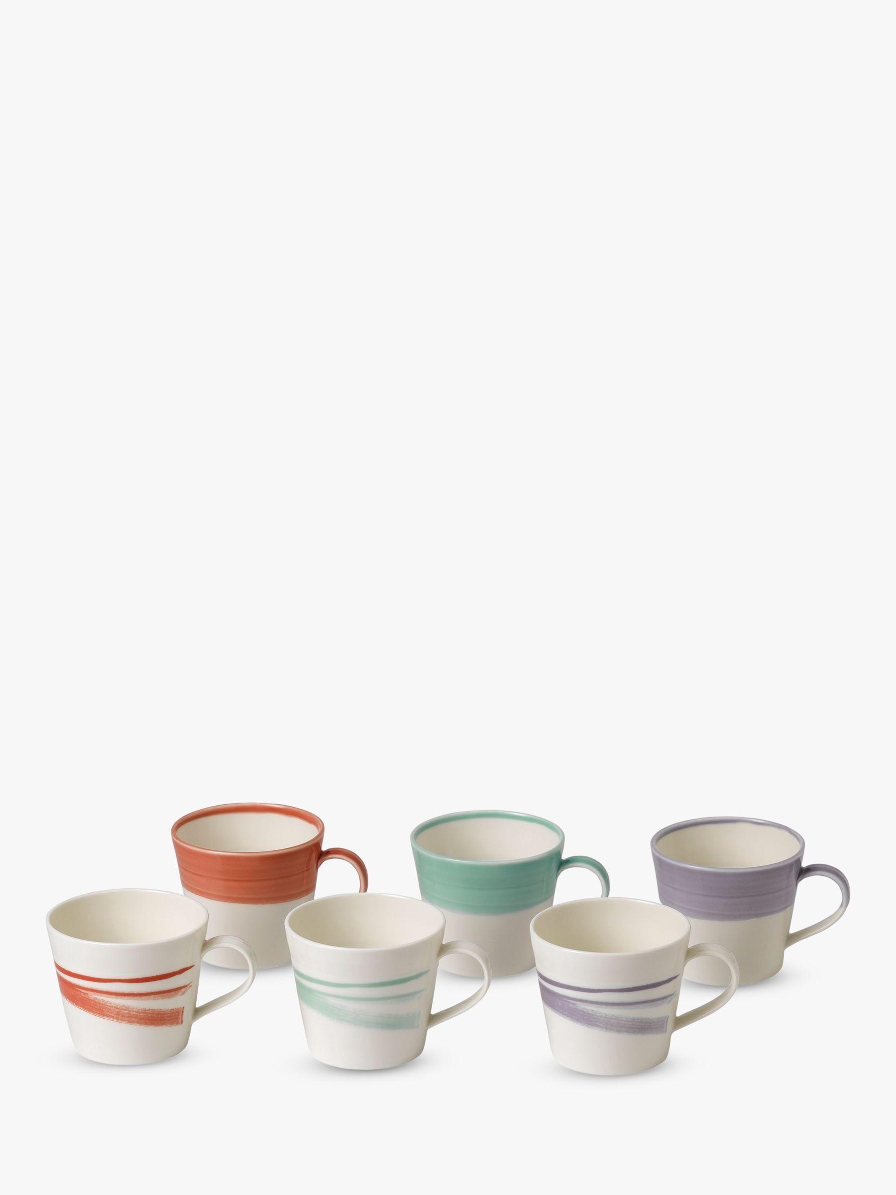 Royal Doulton Royal Doulton 1815 Bold Mugs, Set of 6, 400ml, Assorted
