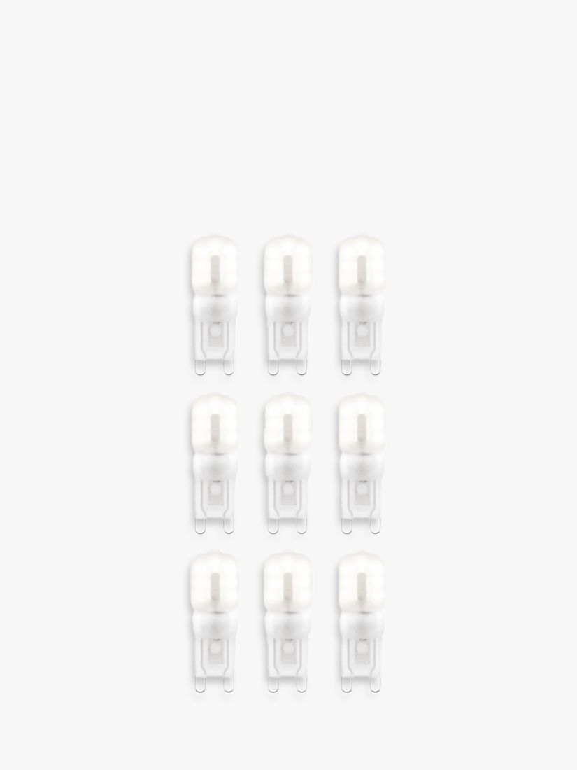 Saxby Saxby 2.5W G9 LED Dimmable Frosted Capsule Bulbs, Cool White, Pack of 9
