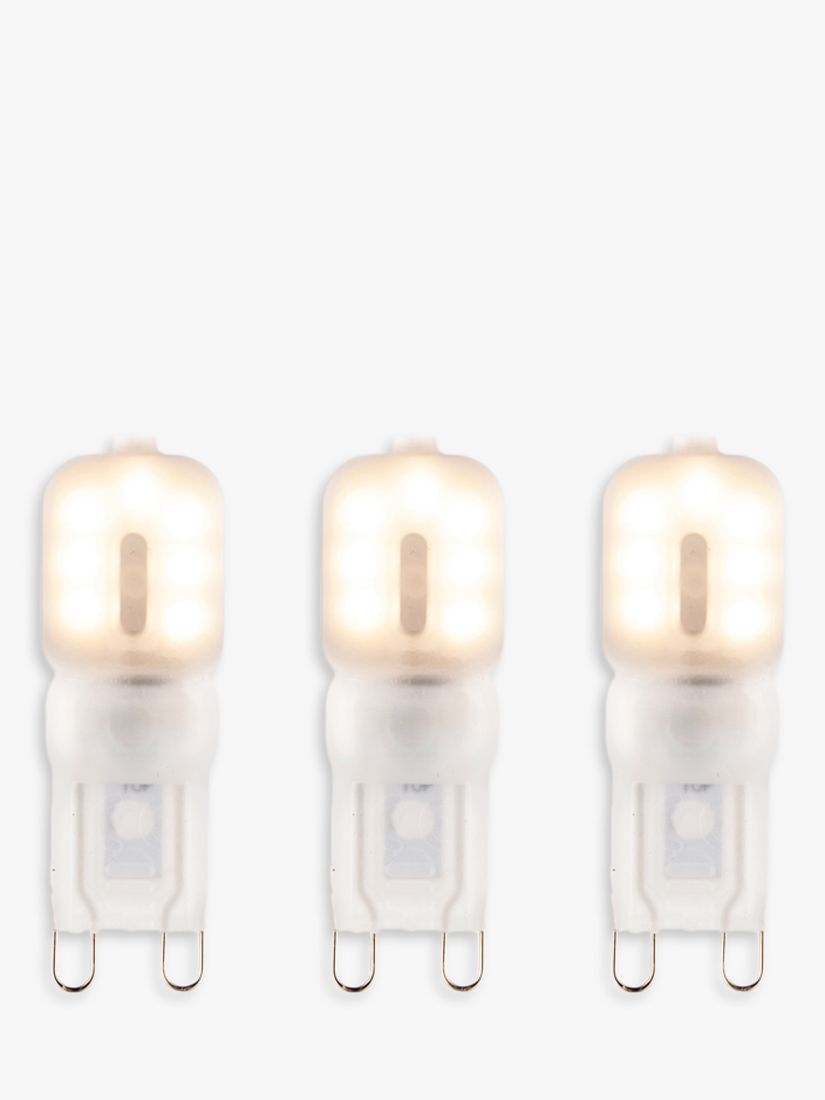 Saxby Saxby 2.5W G9 LED Dimmable Frosted Capsule Bulbs, Warm White, Pack of 3