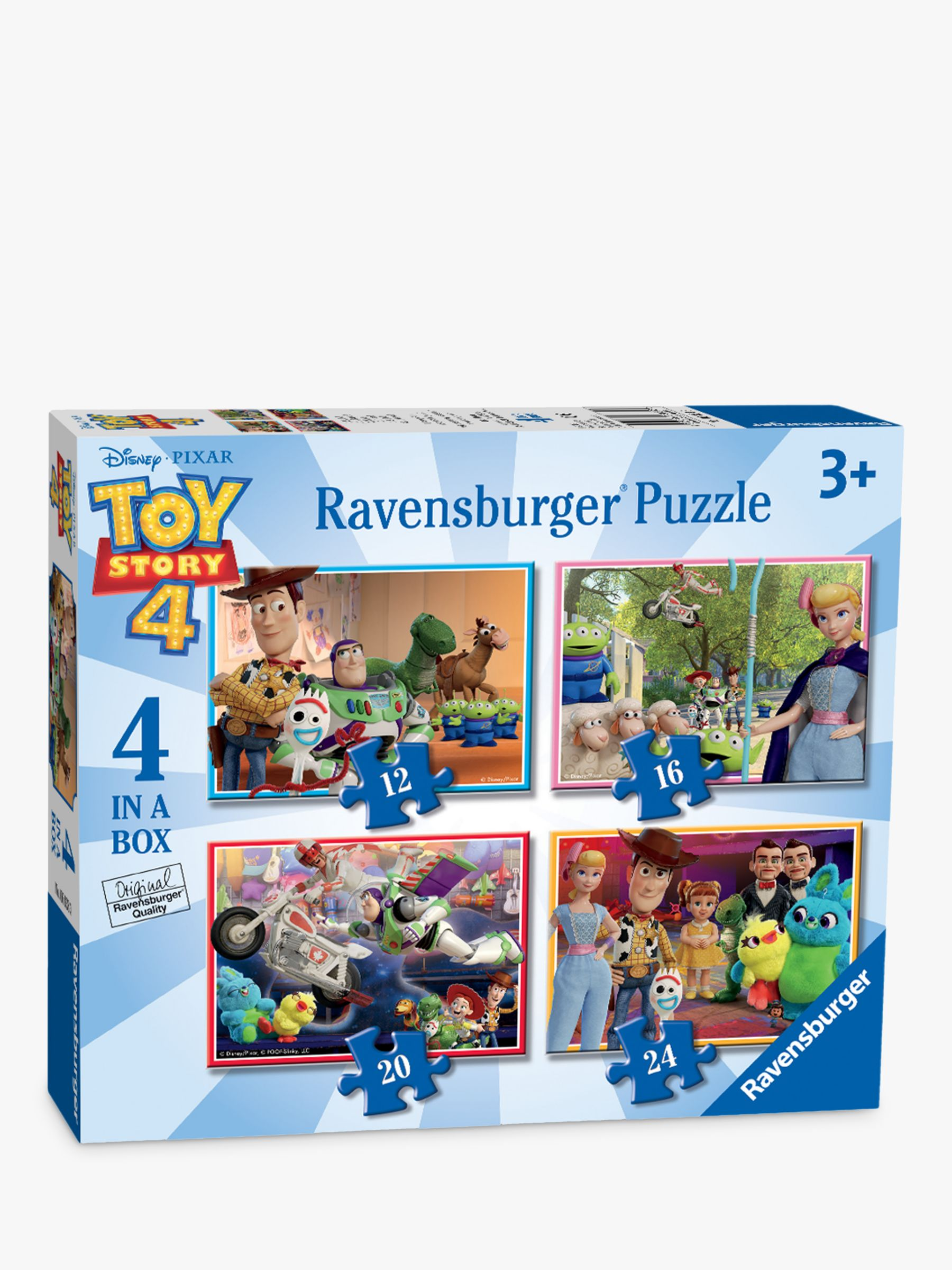 Ravensburger Ravensburger Toy Story 4 4 in a Box Jigsaw Puzzle