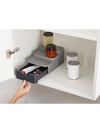 Buy Joseph Joseph CupboardStore™ Tiered Kitchen Organiser with Drawer Online at johnlewis.com