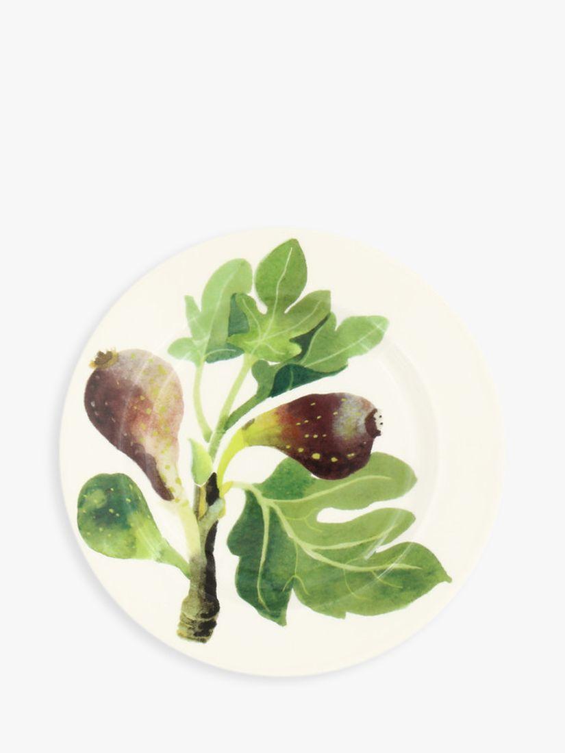 Emma Bridgewater Emma Bridgewater Vegetable Garden Figs Plate, 16cm, Green/Multi