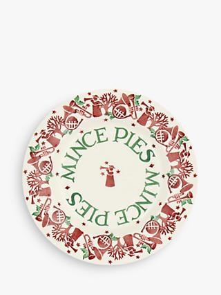 Emma Bridgewater Joy Trumpets Mince Pies Plate, 22cm, White/Red