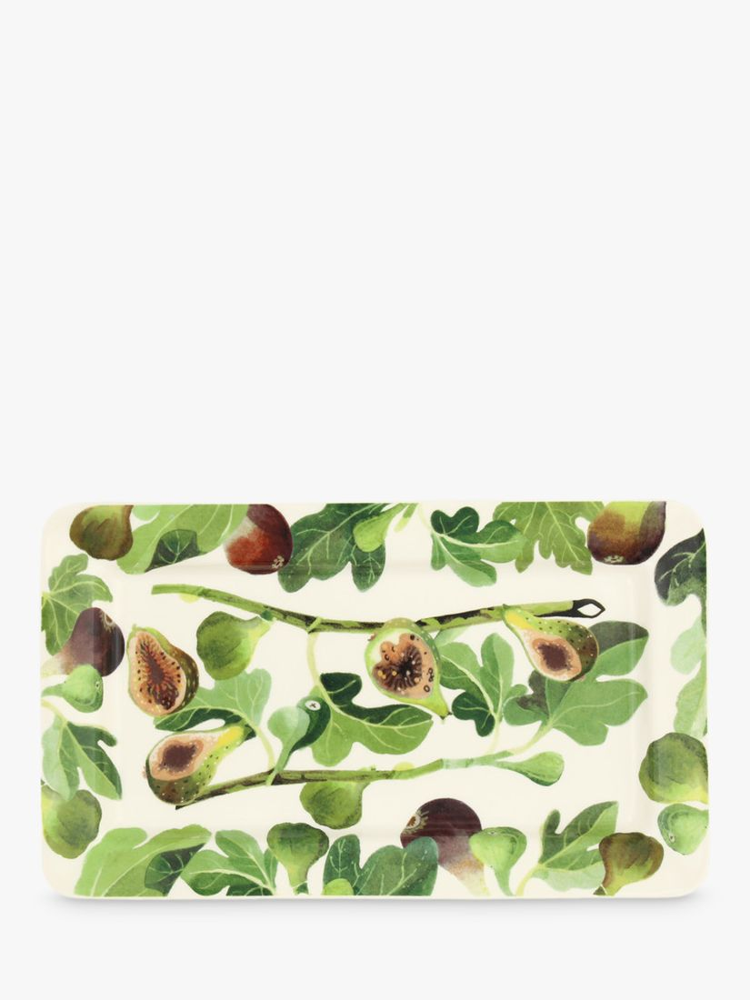 Emma Bridgewater Emma Bridgewater Vegetable Garden Figs Oblong Plate, 31cm, Green/Multi