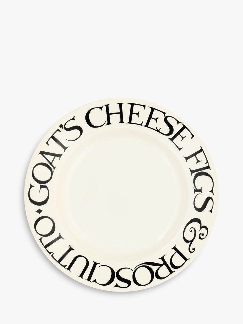 Emma Bridgewater Emma Bridgewater Black Toast Fig & Cheese Plate, 22cm, Black/White