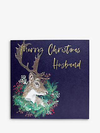 Belly Button Designs Stag Husband Christmas Card