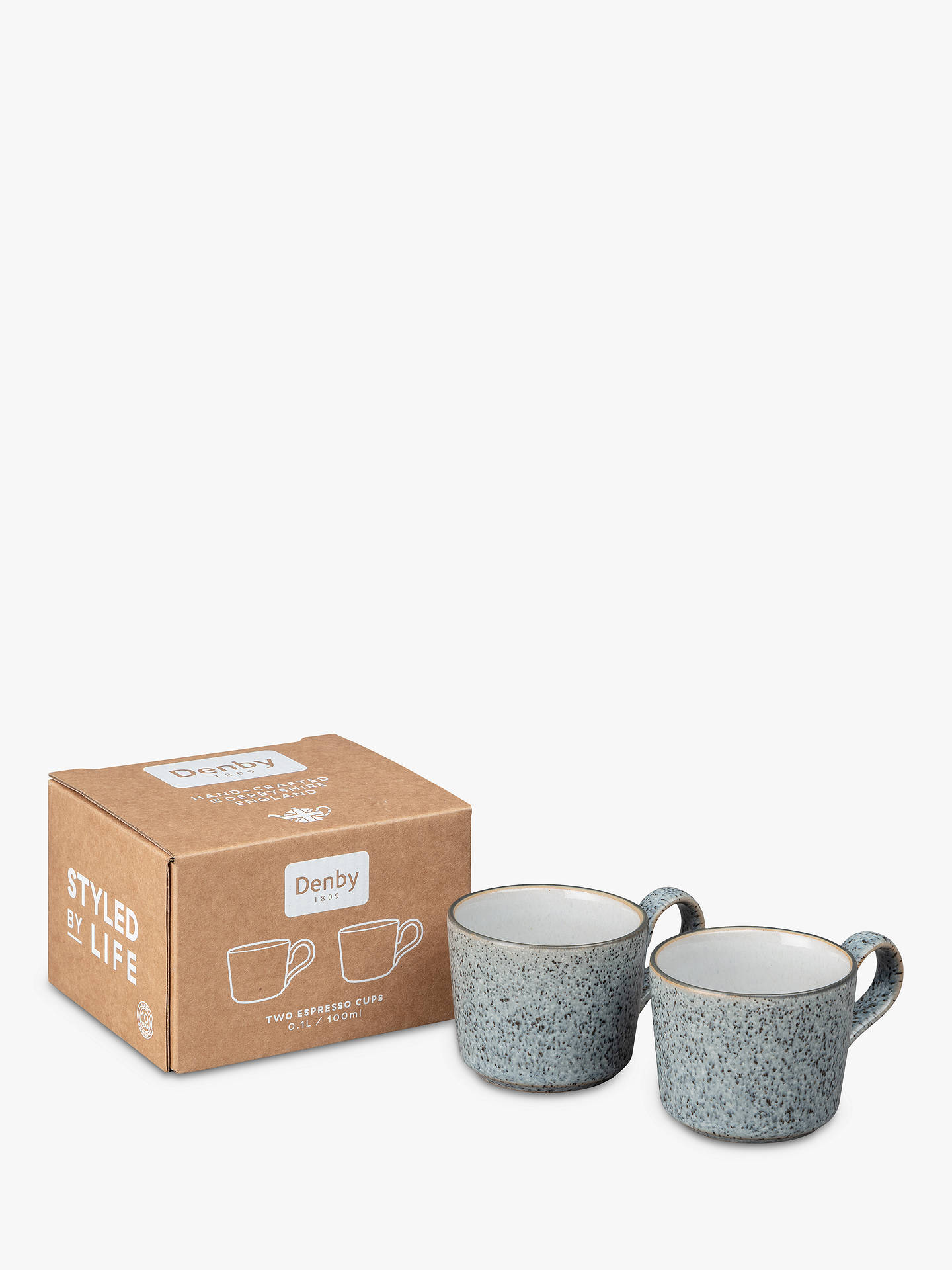 Buy Denby Studio Grey Espresso Coffee Cups, Set of 2, 100ml Online at johnlewis.com