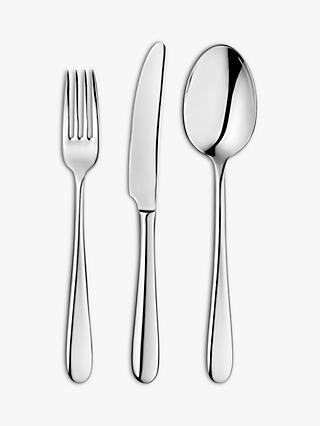 John Lewis & Partners Dome Cutlery Set, 18 Piece/6 Place Settings