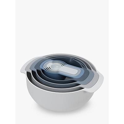 Joseph Joseph Editions Mixing Bowls & Measuring Cups Nest Set, 9 Pieces, Sky