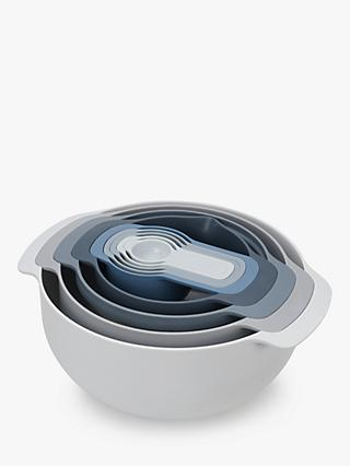 Joseph Joseph Editions Mixing Bowls & Measuring Cups Nest Set, 9 Pieces, Sky