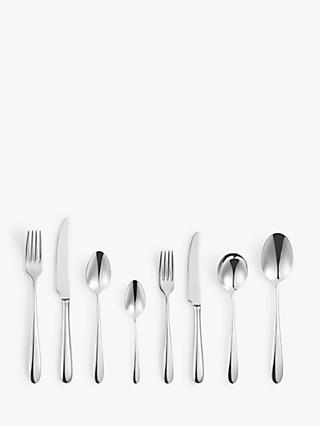 John Lewis & Partners Dome Cutlery Set, 6 Full Place Settings with 2 Table Spoons
