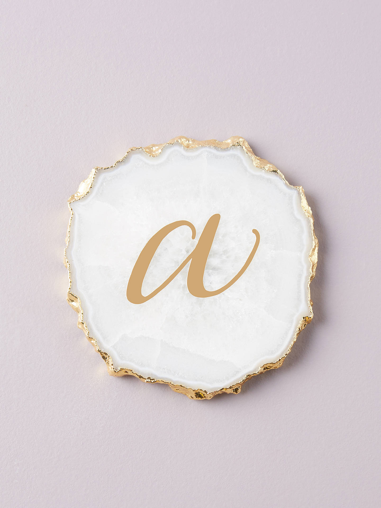 Buy Anthropologie Agate Monogram Coaster, A Online at johnlewis.com