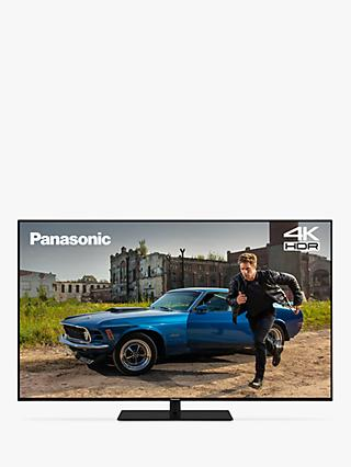 "Panasonic TX-55GX680B (2019) LED HDR 4K Ultra HD Smart TV, 55"" with Freeview Play & Silver Trim Bezel, Black"
