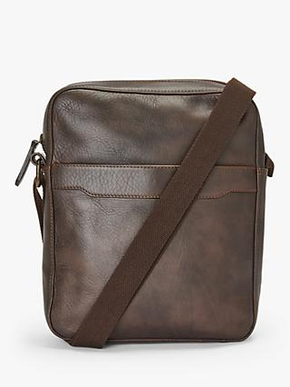 John Lewis & Partners Edinburgh Reporter Bag, Brown