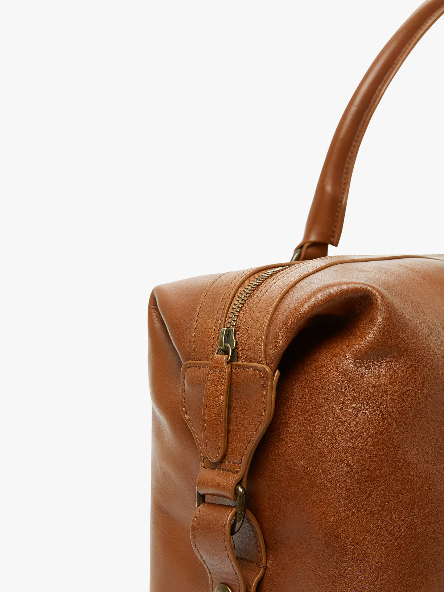 Buy John Lewis & Partners Edinburgh Leather Holdall, Tan Online at johnlewis.com