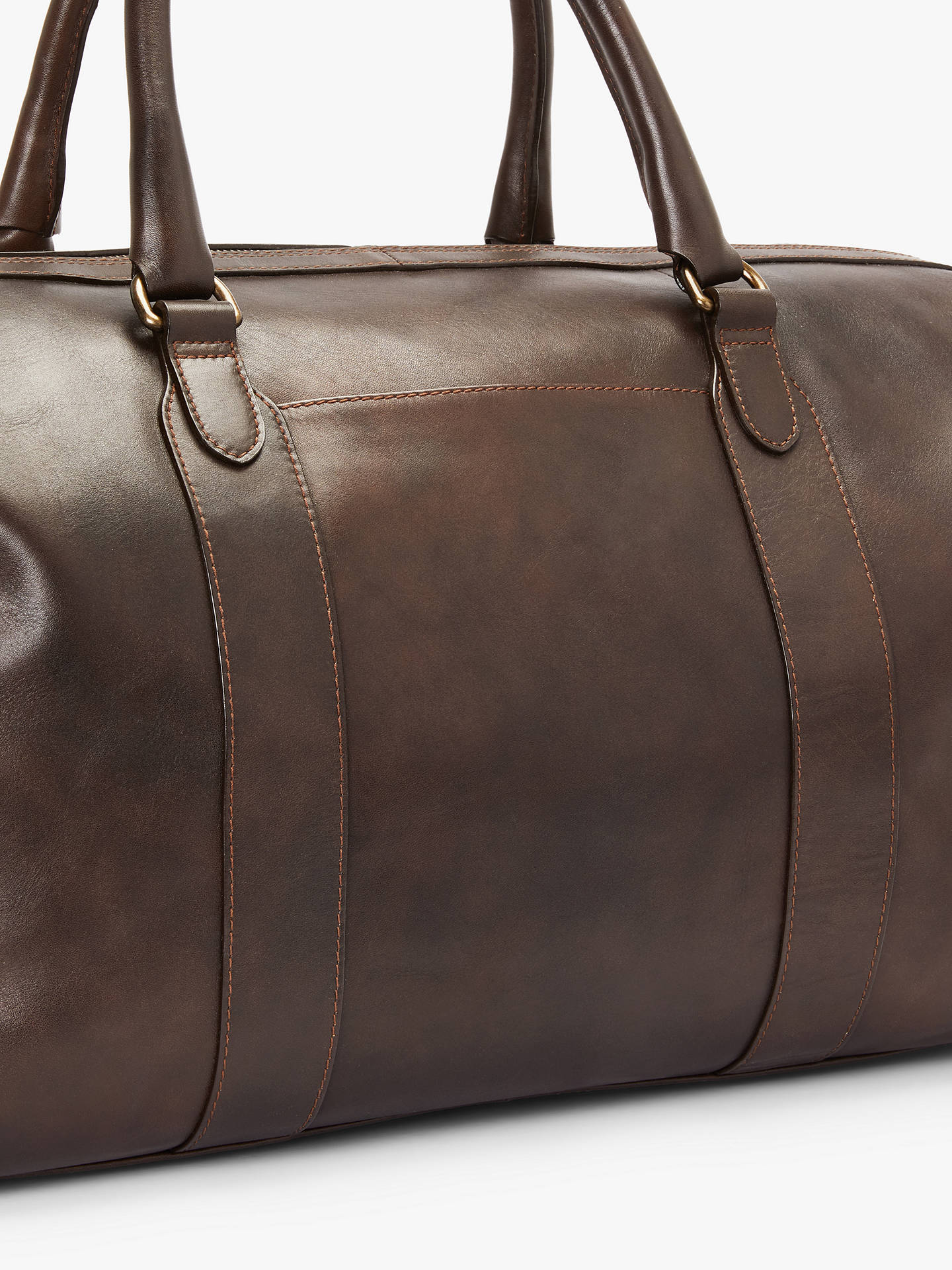 Buy John Lewis & Partners Edinburgh Leather Holdall, Brown Online at johnlewis.com
