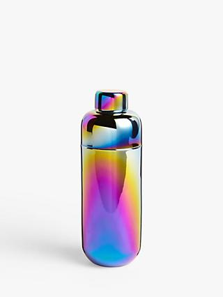 John Lewis & Partners Rainbow Stainless Steel Cocktail Shaker, 670ml, Multi