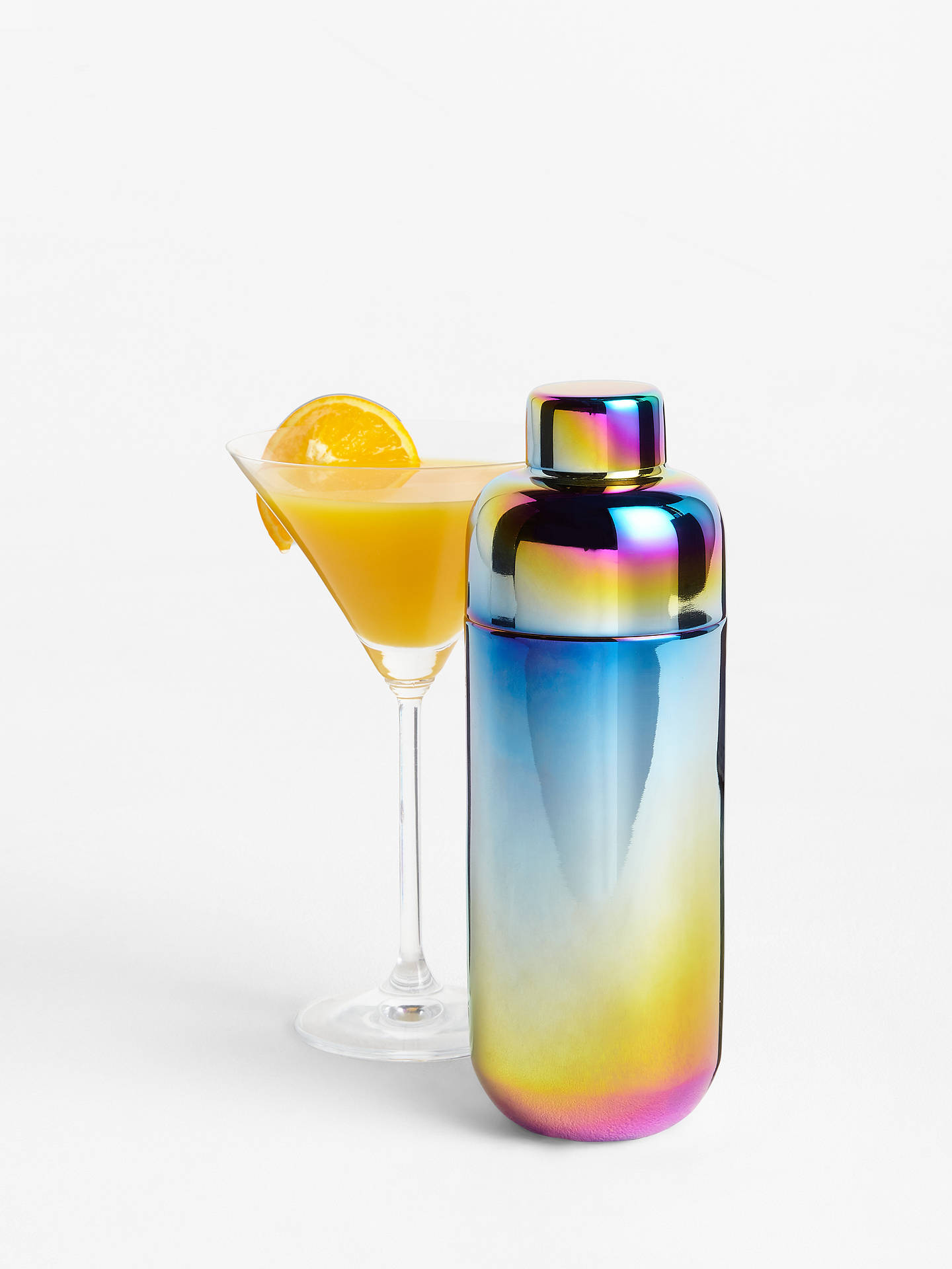 Buy John Lewis & Partners Rainbow Stainless Steel Cocktail Shaker, 670ml, Multi Online at johnlewis.com