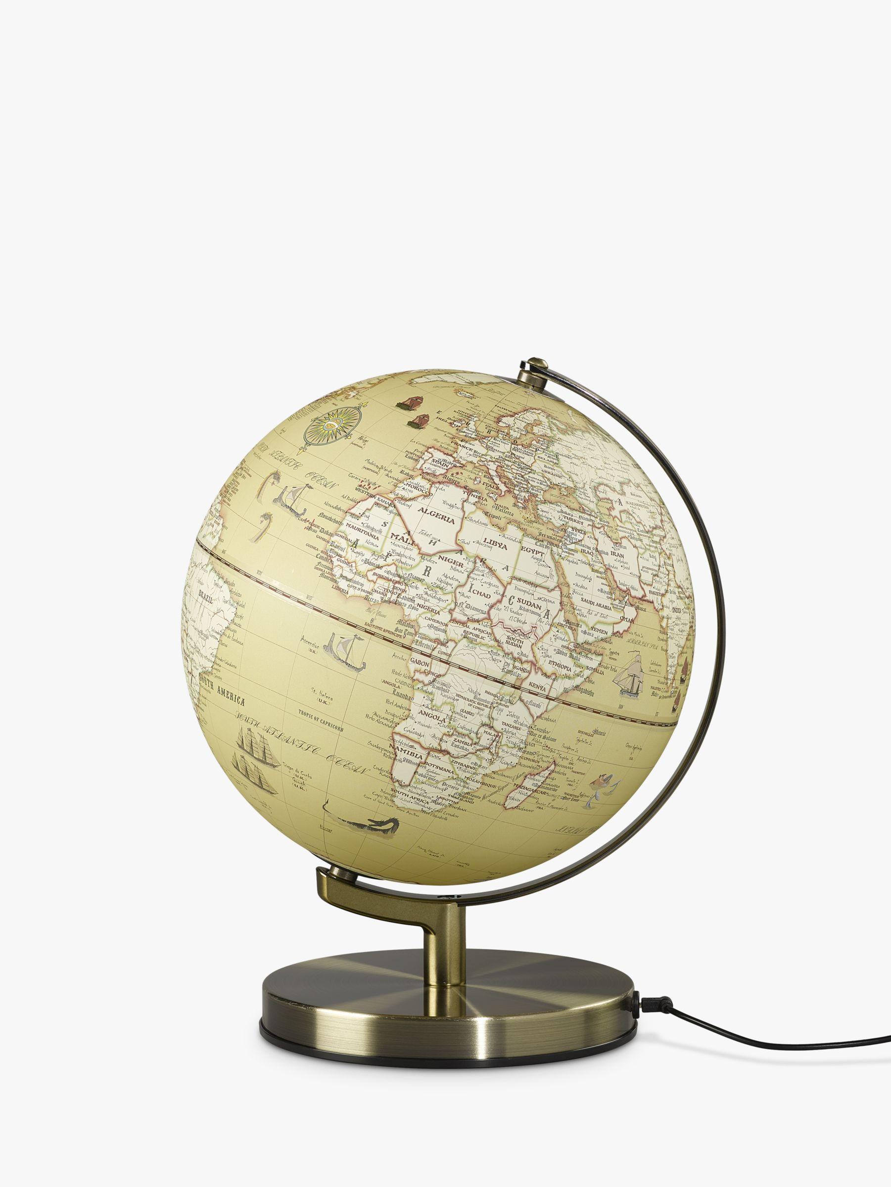 Wild & Wolf Wild & Wolf Light Up Vintage Globe, 25cm
