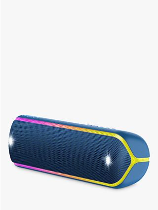 Sony SRS-XB32 Extra Bass Waterproof Bluetooth NFC Portable Speaker with Line & Strobe Lighting