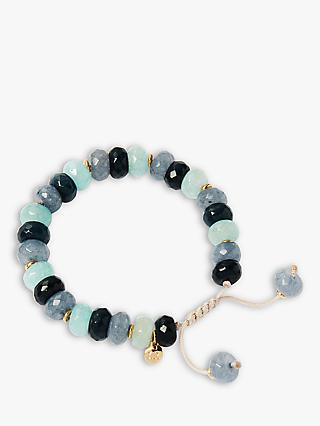 Lola Rose Mimmy Beaded Bracelet, Mixed Blue Quartzite