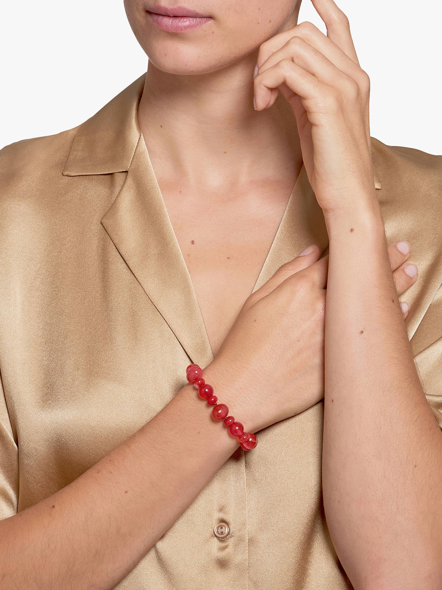 Buy Lola Rose Kyle Beaded Bracelet, Scarlet Agate Online at johnlewis.com