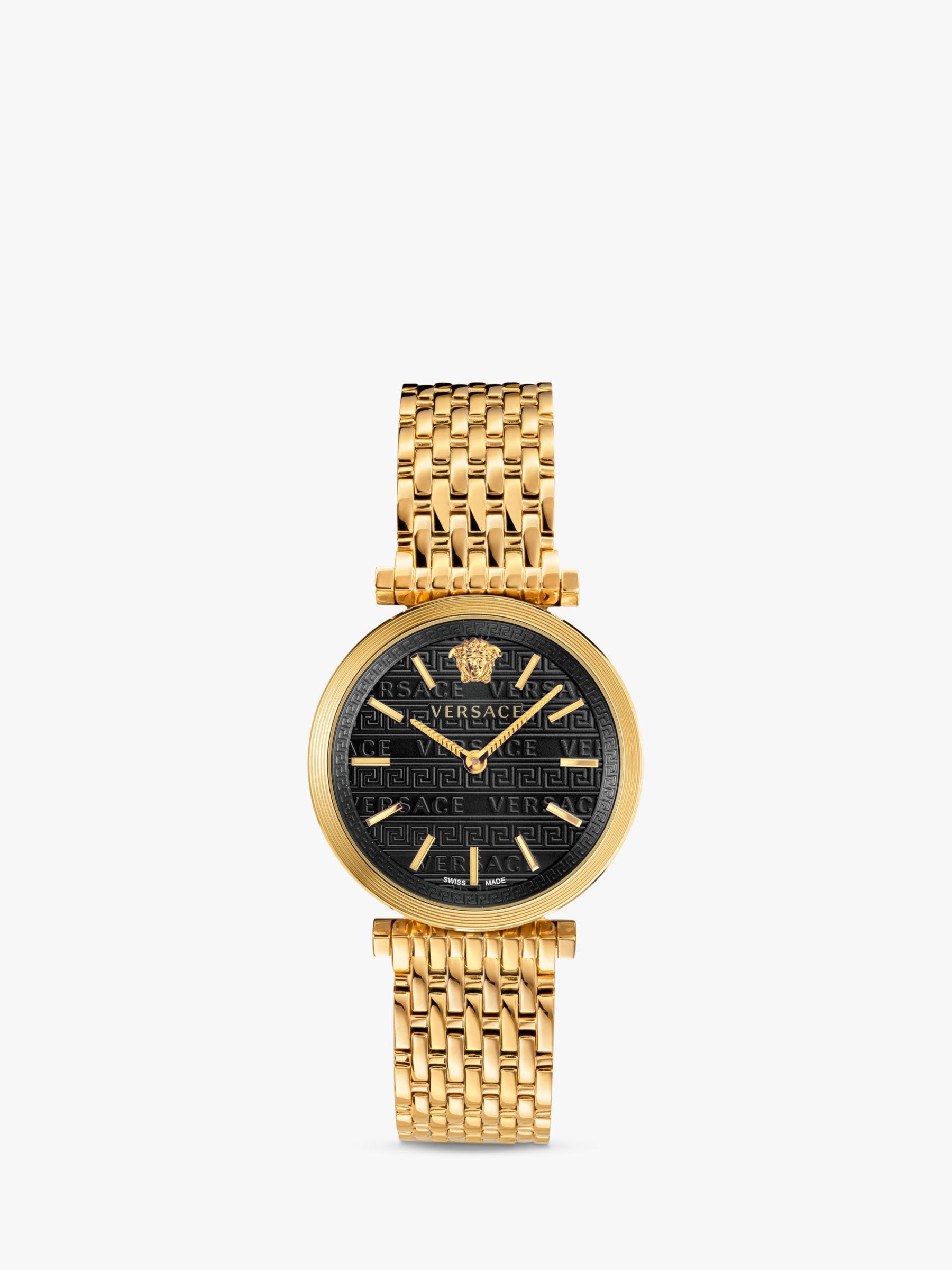 Versace Versace VELS00819 Women's Twist Bracelet Strap Watch, Gold/Black