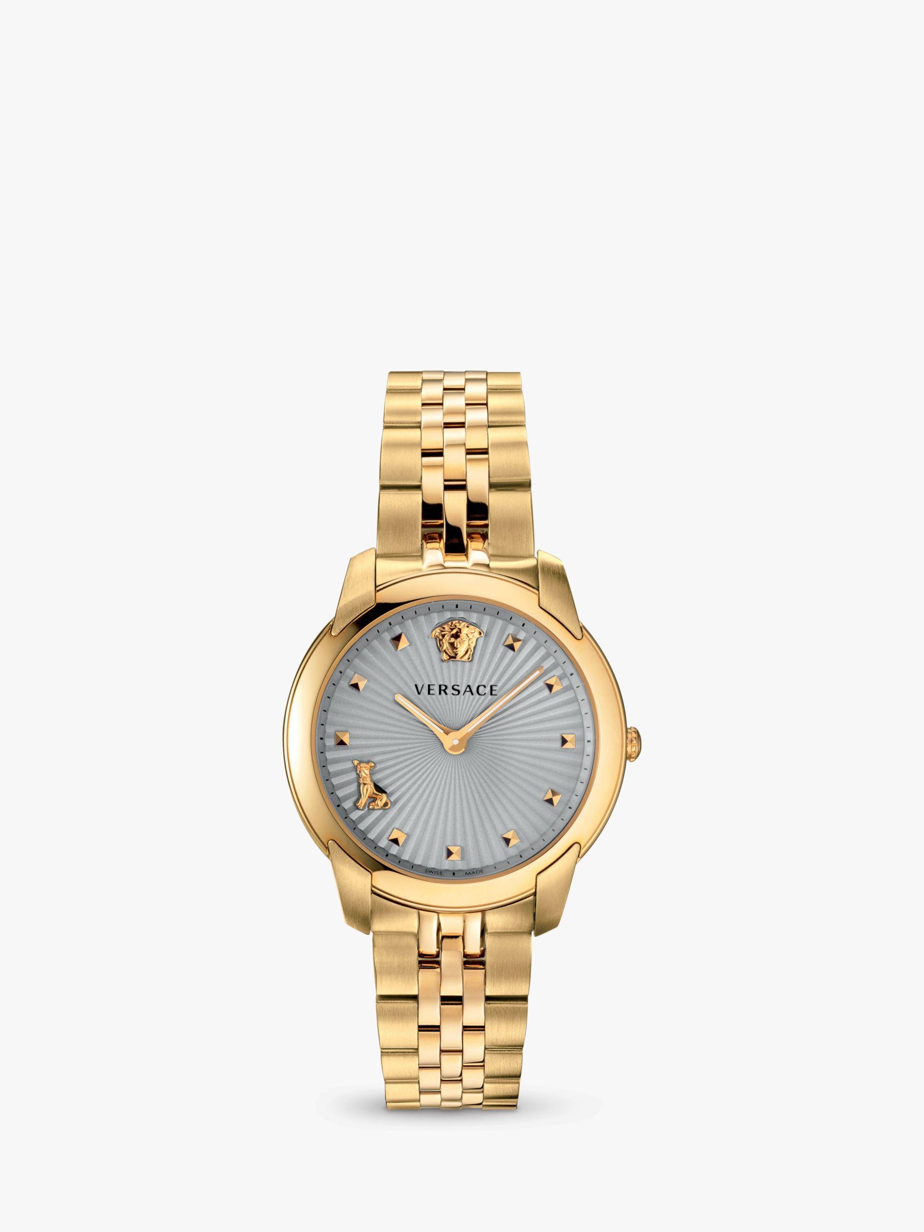 Versace Versace VELR00719 Women's Audrey Stud Detail Chain Strap Watch, Gold