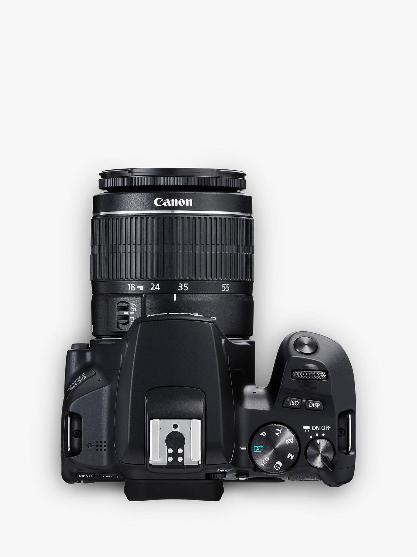"Buy Canon EOS 250D Digital SLR Camera with 18-55mm & 75-300mm Lenses, 4K Ultra HD, 24.1MP, Wi-Fi, Bluetooth, Optical Viewfinder, 3"" Vari-angle Touch Screen, Double Zoom Lens Kit, Black Online at johnlewis.com"